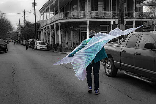 Caped Street Dancer on Frenchmen Street by Thomas Lavoie