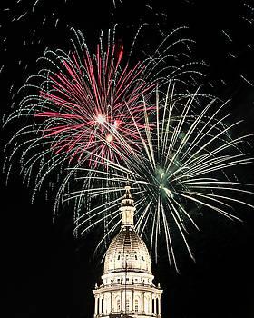 Capital Dome Fireworks by Gej Jones