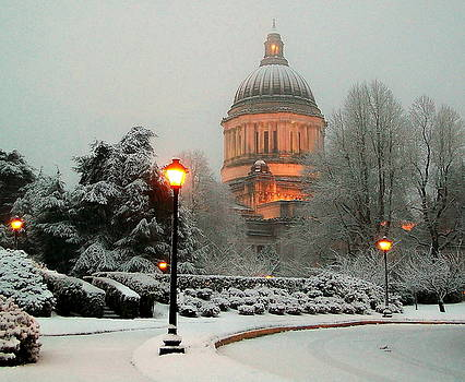 Capitol In Snow by Michael Wyatt