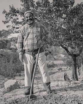 Cappadocian Farmer, Turkey - J00703-062,S by Wally Hampton