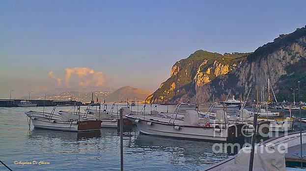 ITALIAN ART - Capri- Harbor boats