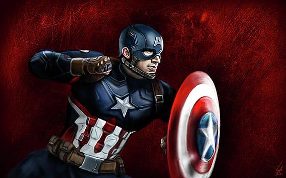 Captain America by Vinny John Usuriello
