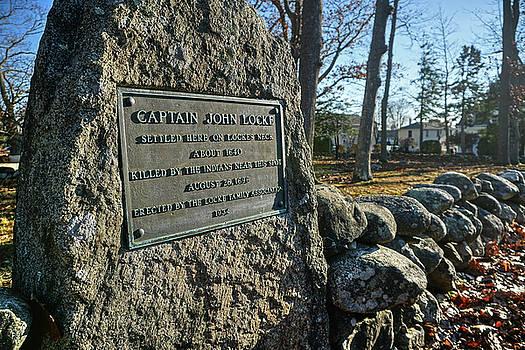 Captain John Locke Monument  by Wayne Marshall Chase