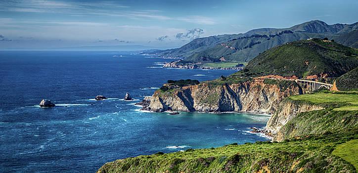Captivating California Coast By The Bixby Bridge by Nazeem Sheik
