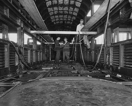 Chicago and North Western Historical Society - Car Construction at Pullman - 1959