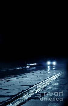 Jill Battaglia - Car On a Rainy Highway at Night