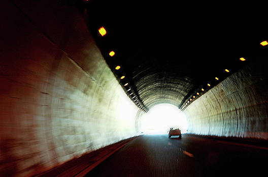 Sami Sarkis - Car travelling inside a highway tunnel