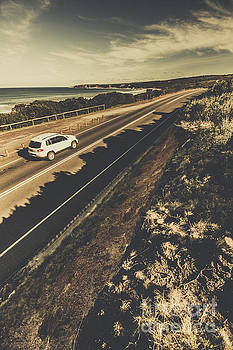 Car travelling The Great Ocean Road by Jorgo Photography - Wall Art Gallery