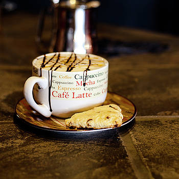 Caramel Macchiato with Scone by Tonya Cooper