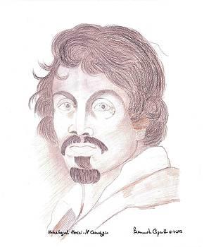 Caravaggio Self Portrait by Bernardo Capicotto