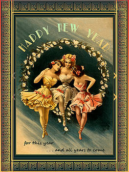 Card Happy New Year by Robert G Kernodle