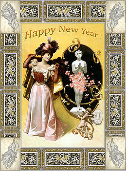 Card New Year Wishes by Robert G Kernodle