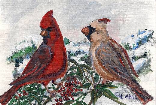 Cardinal Berries by Elizabeth Lane