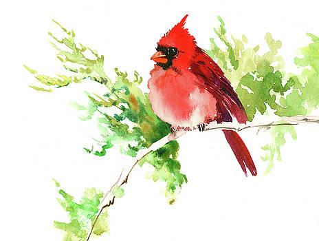 Cardinal Bird, Chrismtas Artwork by Suren Nersisyan