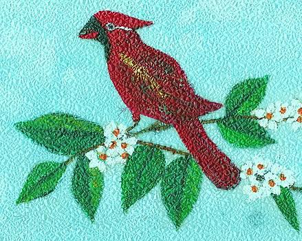 Cardinal Bird by Iris  Mora