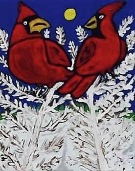 Cardinal friends by Jonathon Hansen