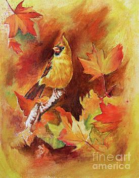 Cardinal in Autumn by Dian Paura-Chellis