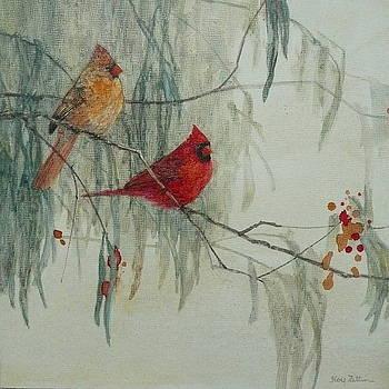 Cardinal Pair by Floy Zittin