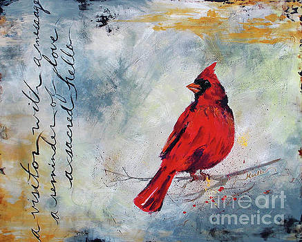 Cardinal Visitor by Noelle Rollins