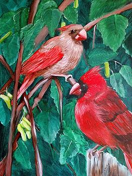 Cardinals by Joan Mansson