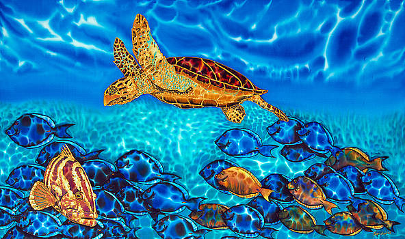 Daniel Jean-Baptiste - Caribbean Sea  Turtle and Reef  Fish