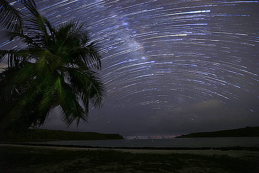 Caribbean Star Trails and Milky Way by Karl Alexander