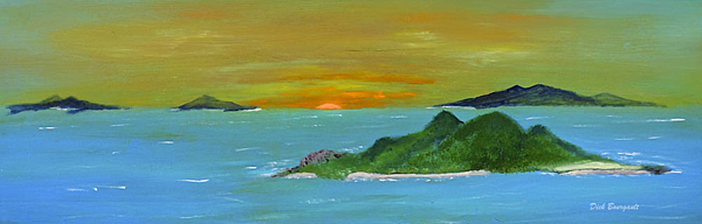 Caribbean Sunset by Dick Bourgault