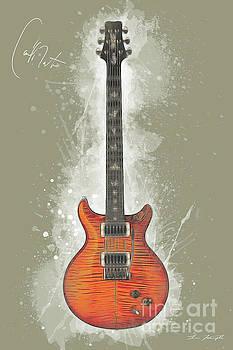 Carlos Santana Guitar by Tim Wemple