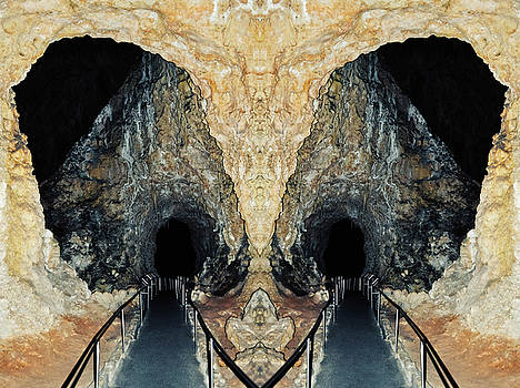 Carlsbad Caverns New Mexico Mirror by Kyle Hanson