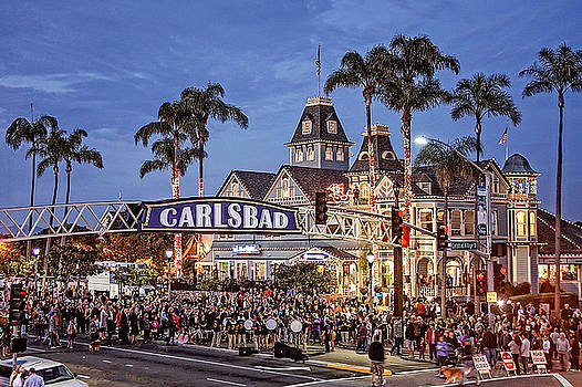 Carlsbad Village Sign Lighting by Ann Patterson