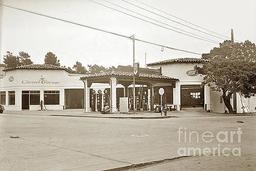 California Views Archives Mr Pat Hathaway Archives - Carmel Garage FORD show room and Chevron Station Ocean Ave. , Circa 1925