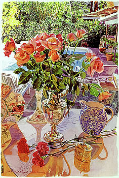 Carnations And Roses by David Lloyd Glover