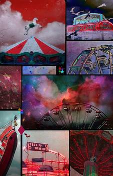 Carnival Colors Collage Poster Art by Gothicrow Images
