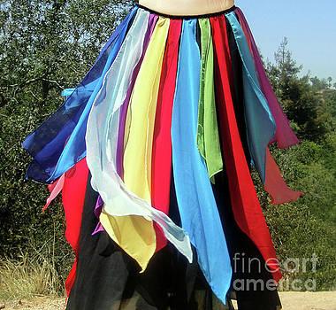 Sofia Metal Queen - Carnival dancewear. Petal skirt 183
