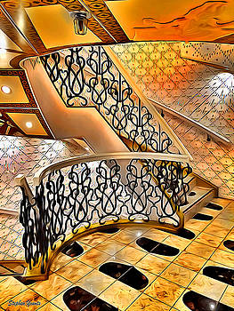 Carnival Pride Stairs by Stephen Younts