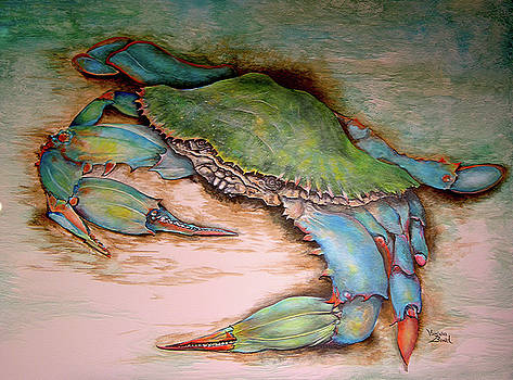 Carolina Blue Crab by Virginia Bond