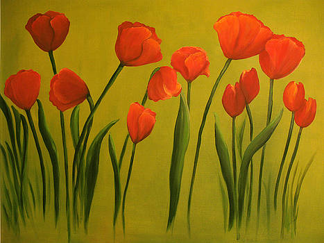 Carolina Tulips by Carol Sweetwood
