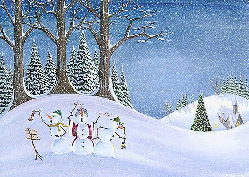 Caroling Snowmen by Thomas Griffin