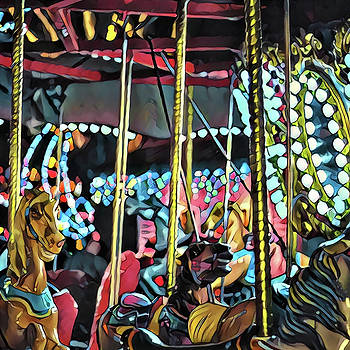 Carousel at Night No. 2 by Richard Hinds