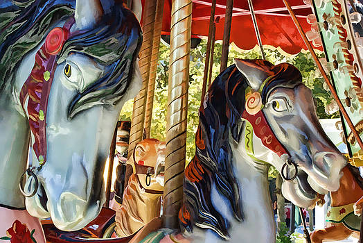 Carousel Horses 2 by Bruce Wood