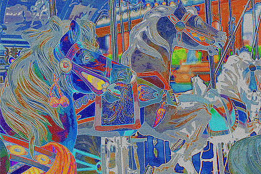 Carousel Horses in Colors by Donna Betancourt