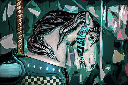 Carousel In Blue 2 by Michael Arend