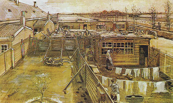 Vincent van Gogh - Carpenters Shop Seen from Vincent