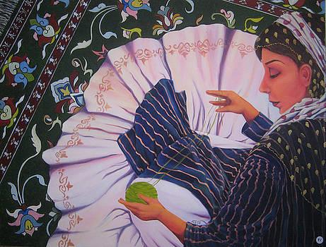 Carpet Weaver by Azadeh Amiri