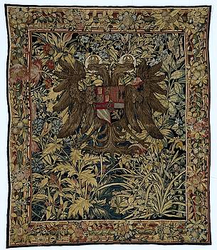Textile tapestry Carpet with the arms of Emperor Charles V Willem de Pannemaker ca 1540  ca 1555 by R Muirhead Art