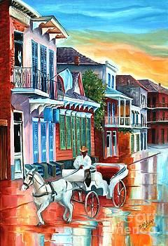 Carriage on Bourbon Street by Diane Millsap