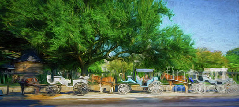 Kathleen K Parker - Carriages by Jackson Square-New Orleans