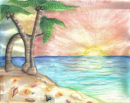 Carribean Beach by Katie Alfonsi