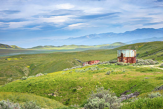 Carrizo Plain - Old Water Tanks by Alexander Kunz