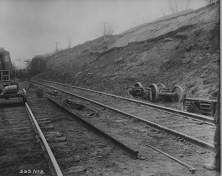 Chicago and North Western Historical Society - Wreckage Strewn Over Rails